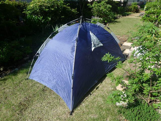 テントを天日干し