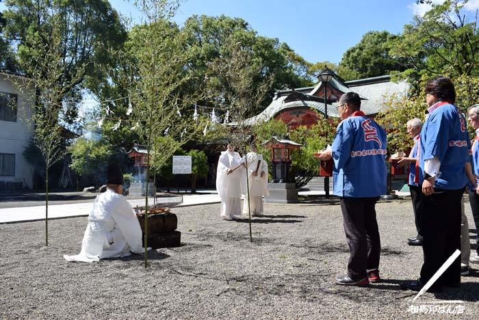 宮崎市で行った不要になった印鑑を供養する印章供養祭。