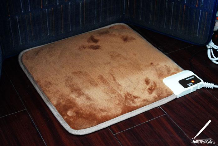 足下から体全体を温めてくれるアイリスオオヤマのホットマット。