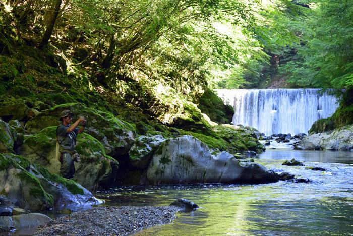 日本三大秘境のひとつ。尾前渓谷。
