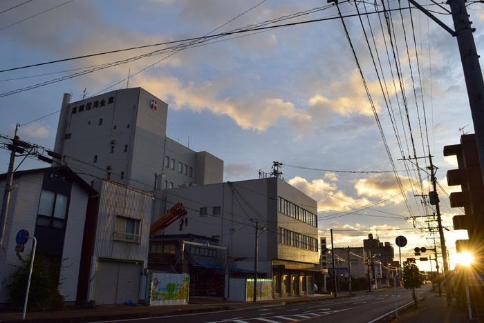 台風10号が過ぎ去った朝。