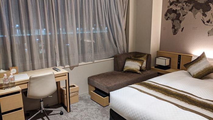 セントレアホテルの部屋